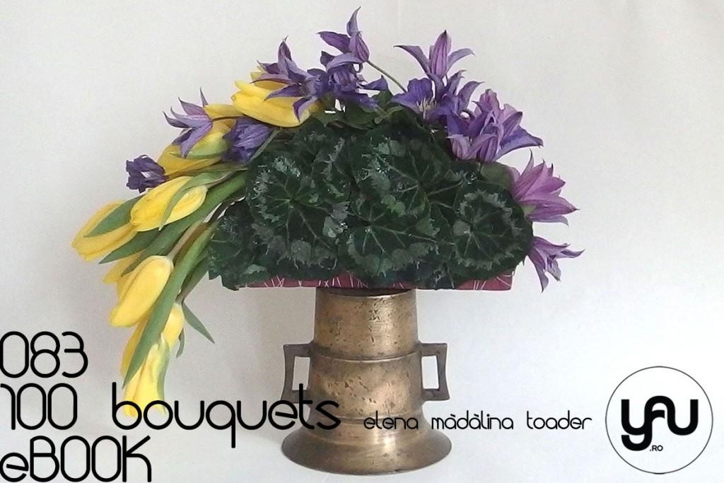 EVANTAI cu flori de CLEMATIS si LALELE #100bouquets #ebook #yauconcept #elenamadalinatoader