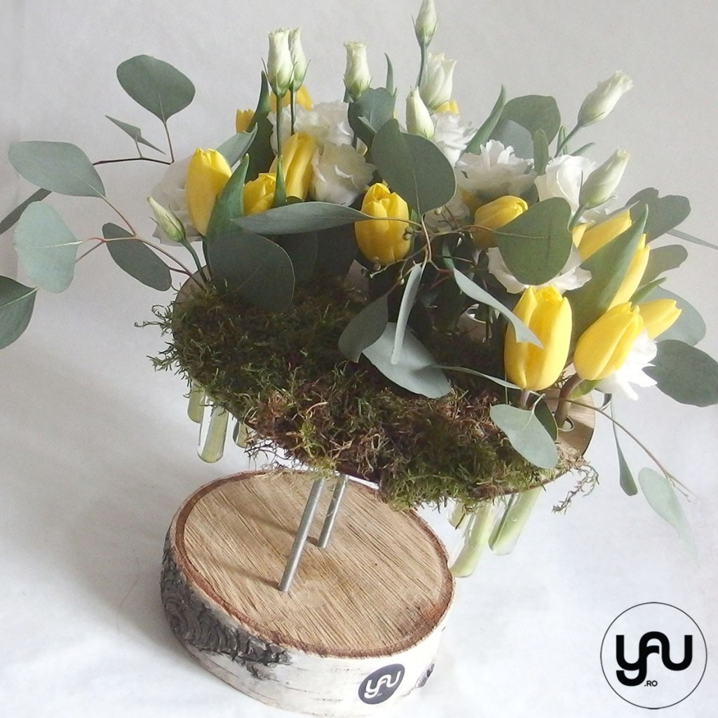 Lalele galbene si lisianthus, o structura cu flori de primavara_YaU_YaU concept_Elena toader (3)