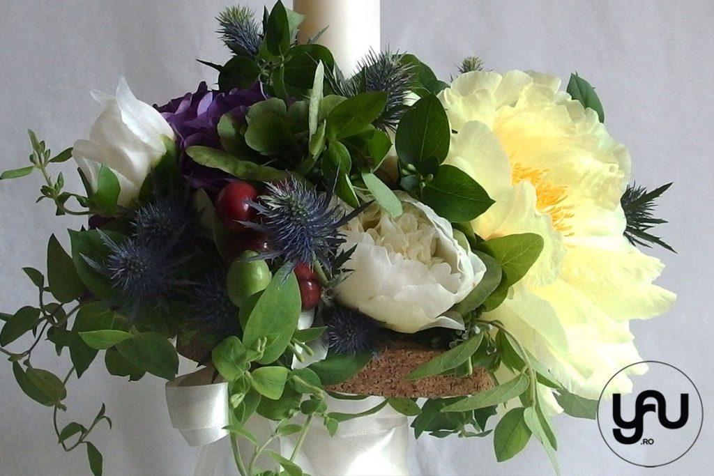 Lumanari de cununie _ yau concept _ elena toader _ bujori galben hortensie eryngium (1)
