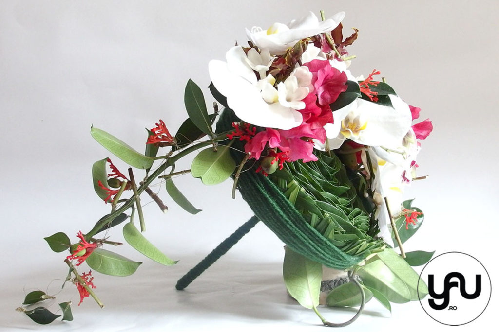 Buchet de mireasa cu orhidee, bujori si lathyrus _ yau concept _ elena toader (1)