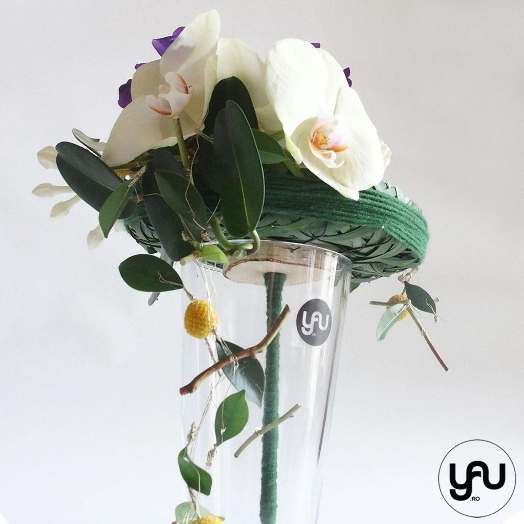 Buchet de mireasa cu orhidee galbena lathyrus si bujori _ yau concept _ elena toader (2)