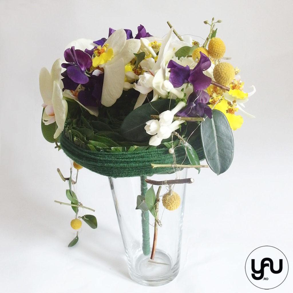 Buchet de mireasa cu orhidee galbena lathyrus si bujori _ yau concept _ elena toader (4)