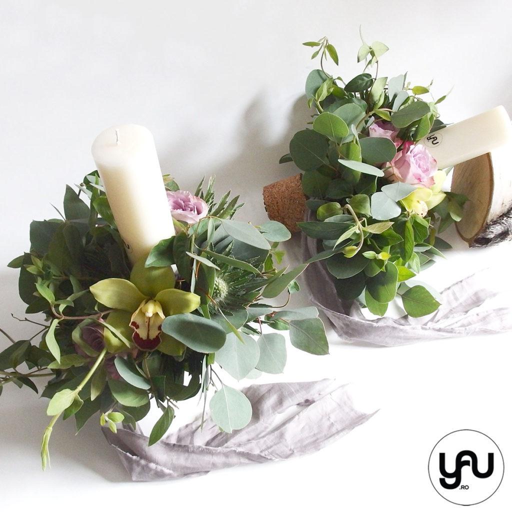 lumanari-cununie-SCURTE-frunze-verzi-orhidee-trandafiri-_-yauconcept-_-elenatoader-3
