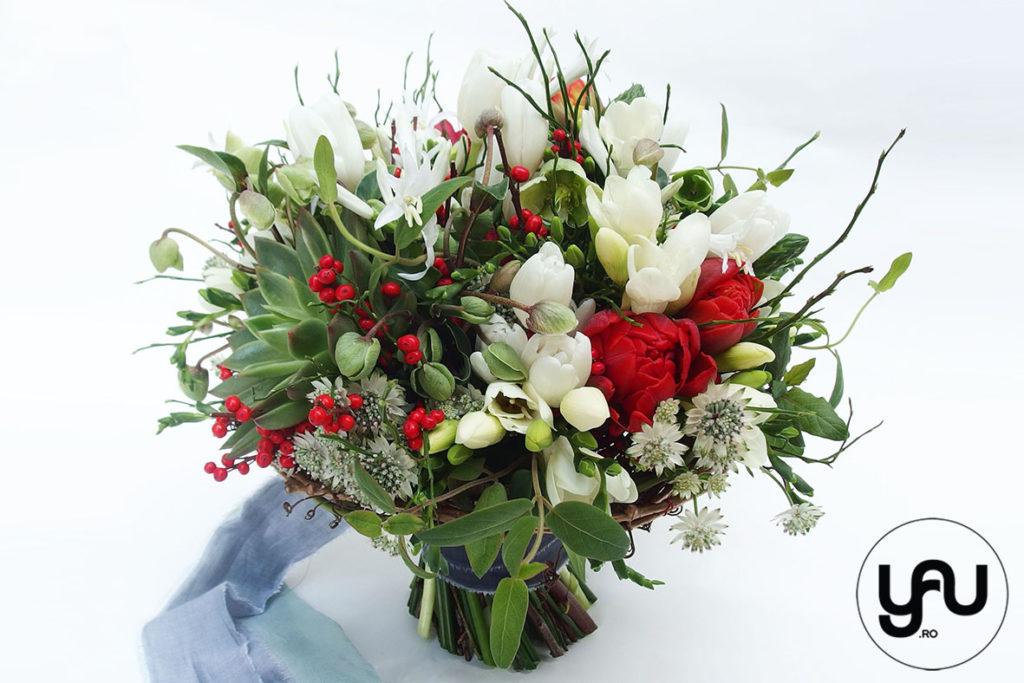 Buchet Mireasa Plante Suculente Si Flori Albe Rosii Yau Concept Blog