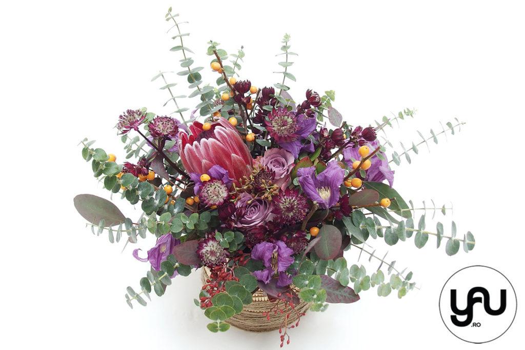 Aranjament floral cu flori MOV VIOLET _ YaU Concept _ elenatoader (1)