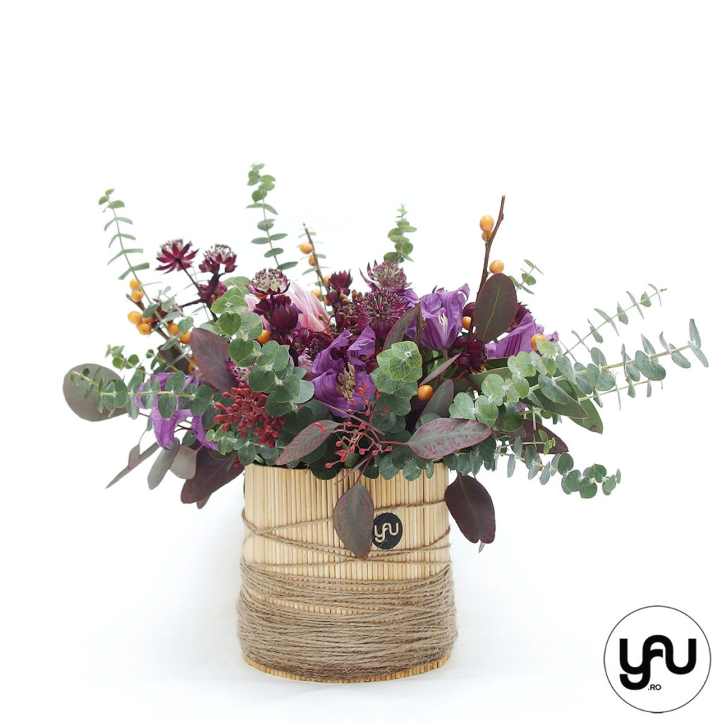 Aranjament floral cu flori MOV VIOLET _ YaU Concept _ elenatoader (4)