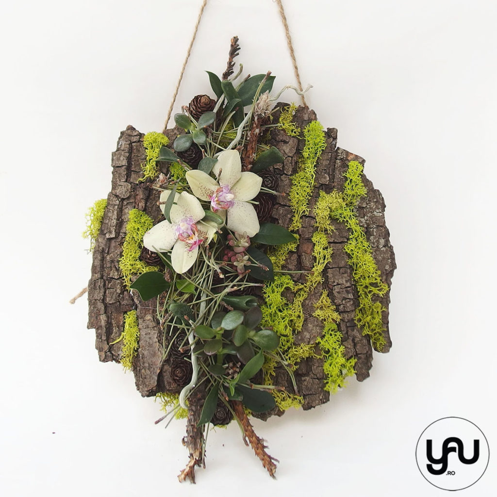 decor floral IARNA _ tablou verde cu orhidee _ yauconcept _ elenatoader (4)