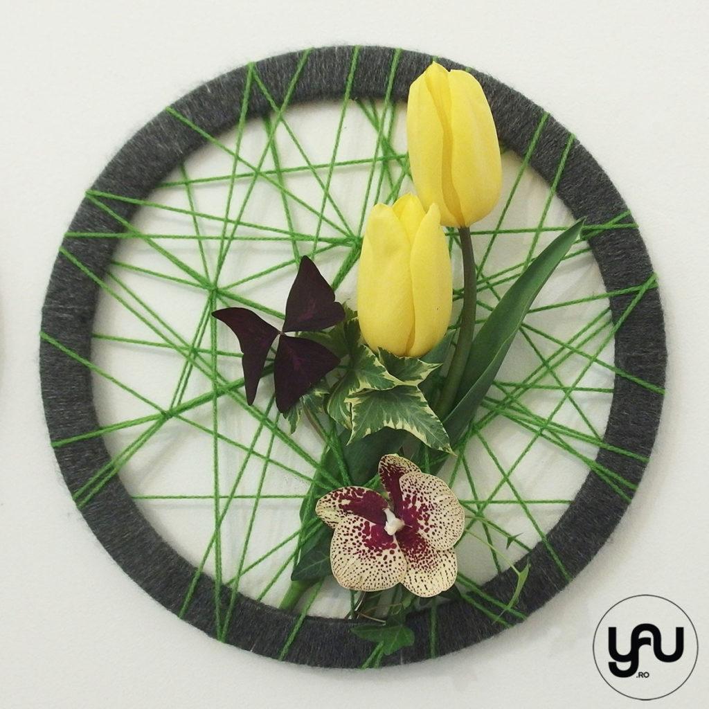 Decor floral PERETE lalele si orhidee _ yauconcept _ elenatoader