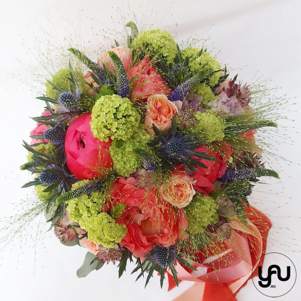 Buchet nunta bujori corai YaUconcept ElenaTOADER