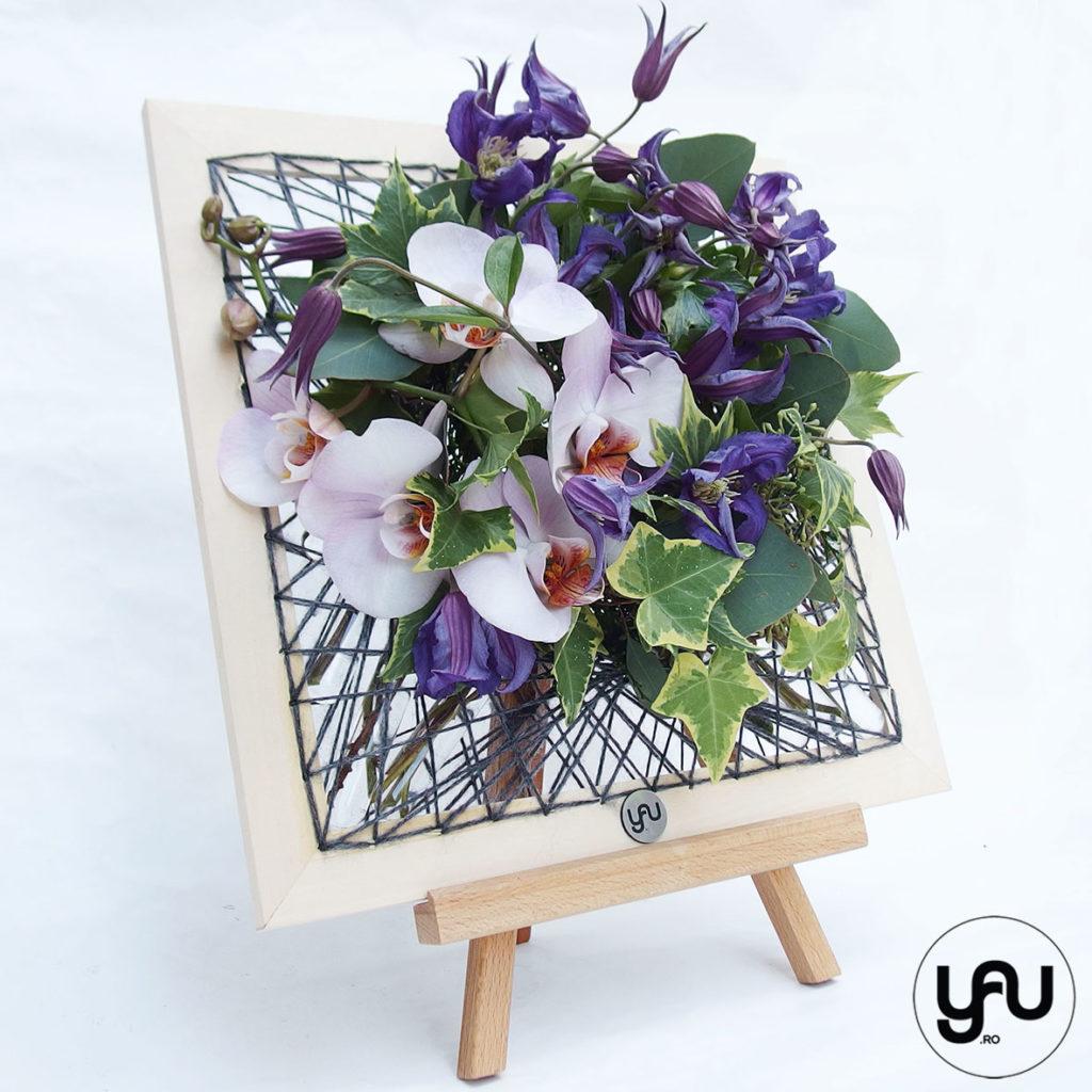 Tablou flori ALBASTRE YaUconcept ElenaTOADER