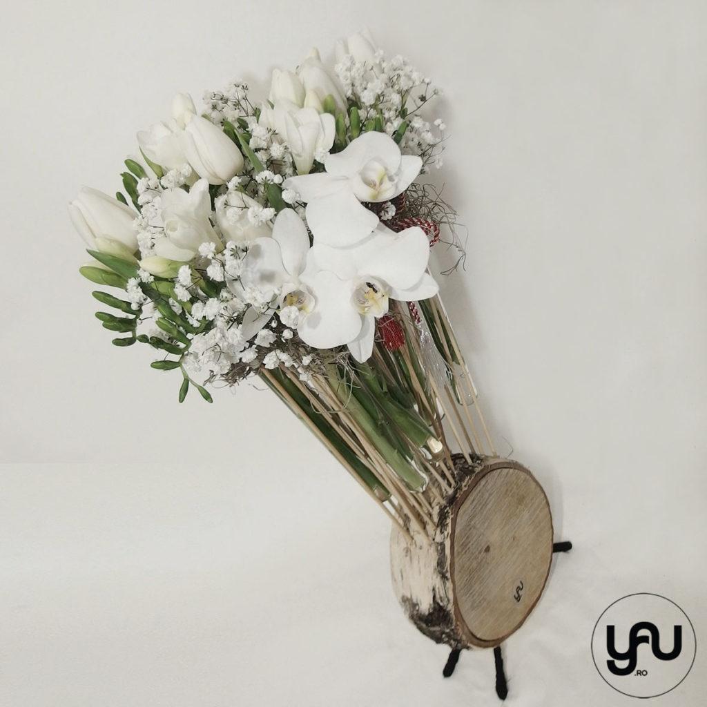 Aranjament flori albe YAUCONCEPT ElenaTOADER