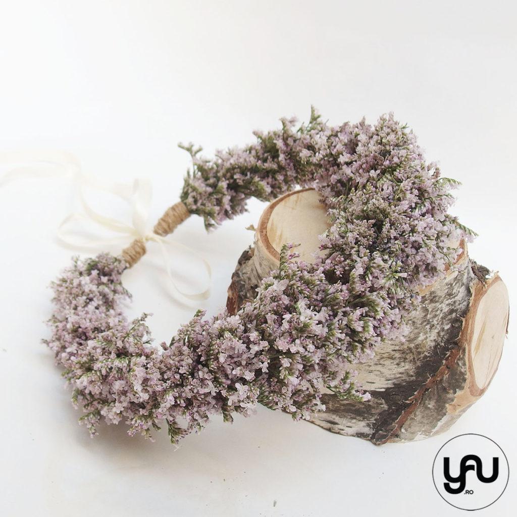 Coronita din flori lila YaUconcept ElenaTOADER