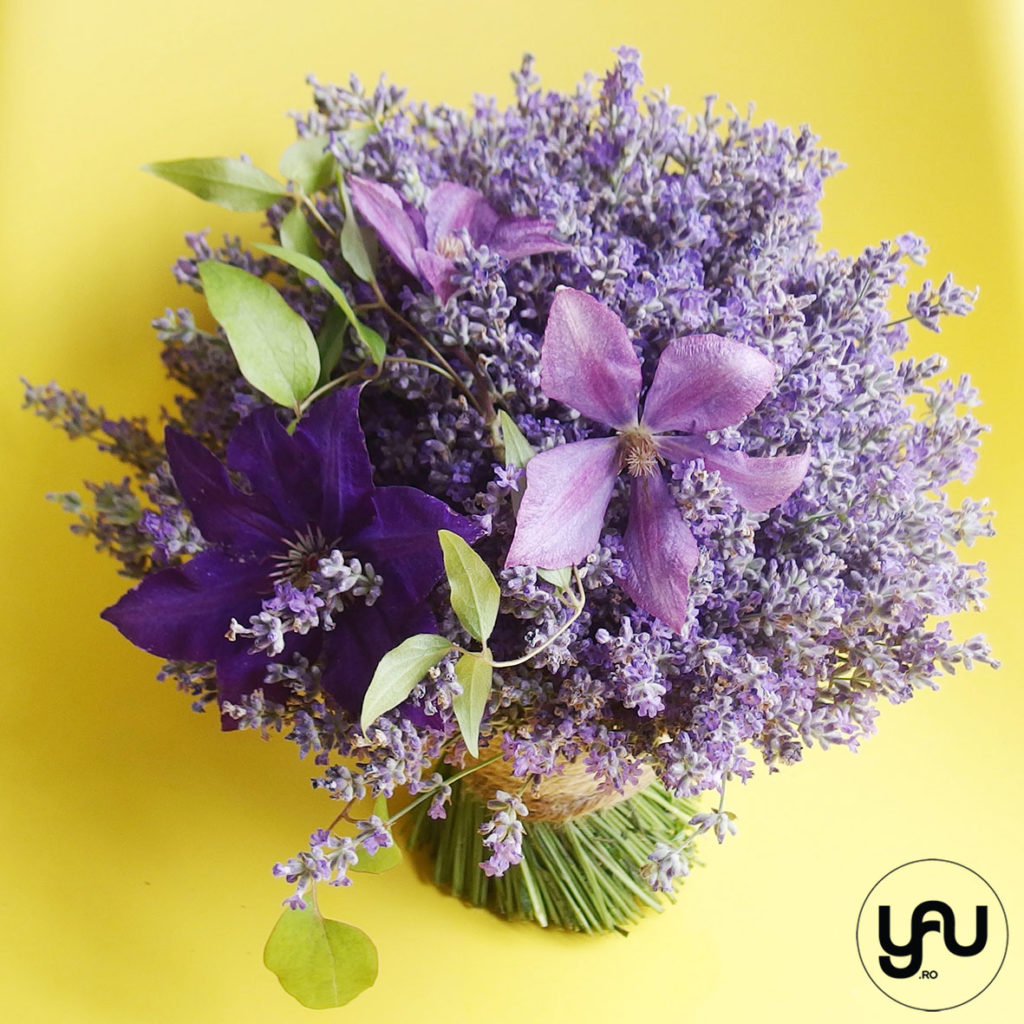 Wedding bouquet LAVENDER and CLEMATIS YAUconcept ElenaTOADER