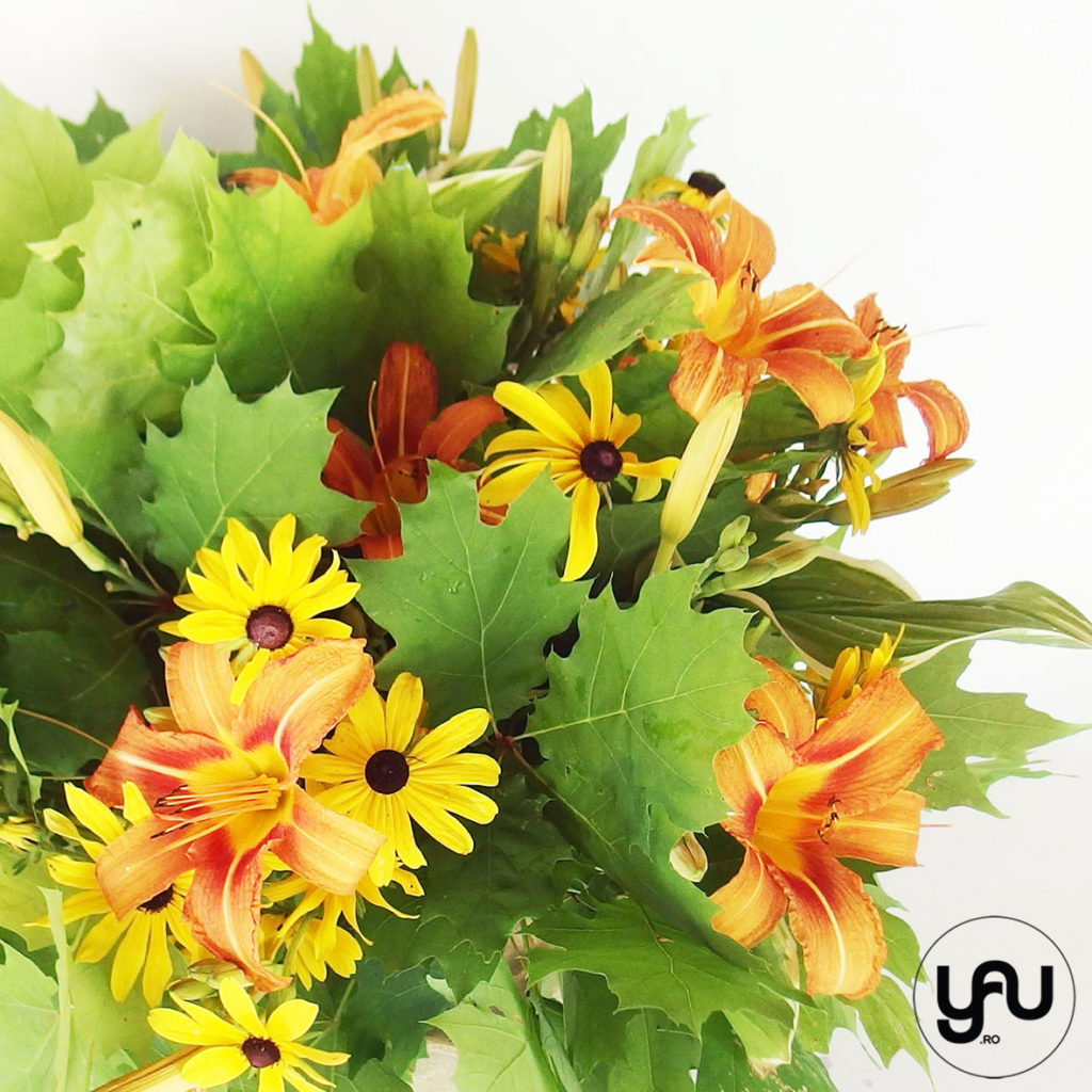 Liliesm Rudbeckia, Green leaves YaUconcept ElenaTOADER