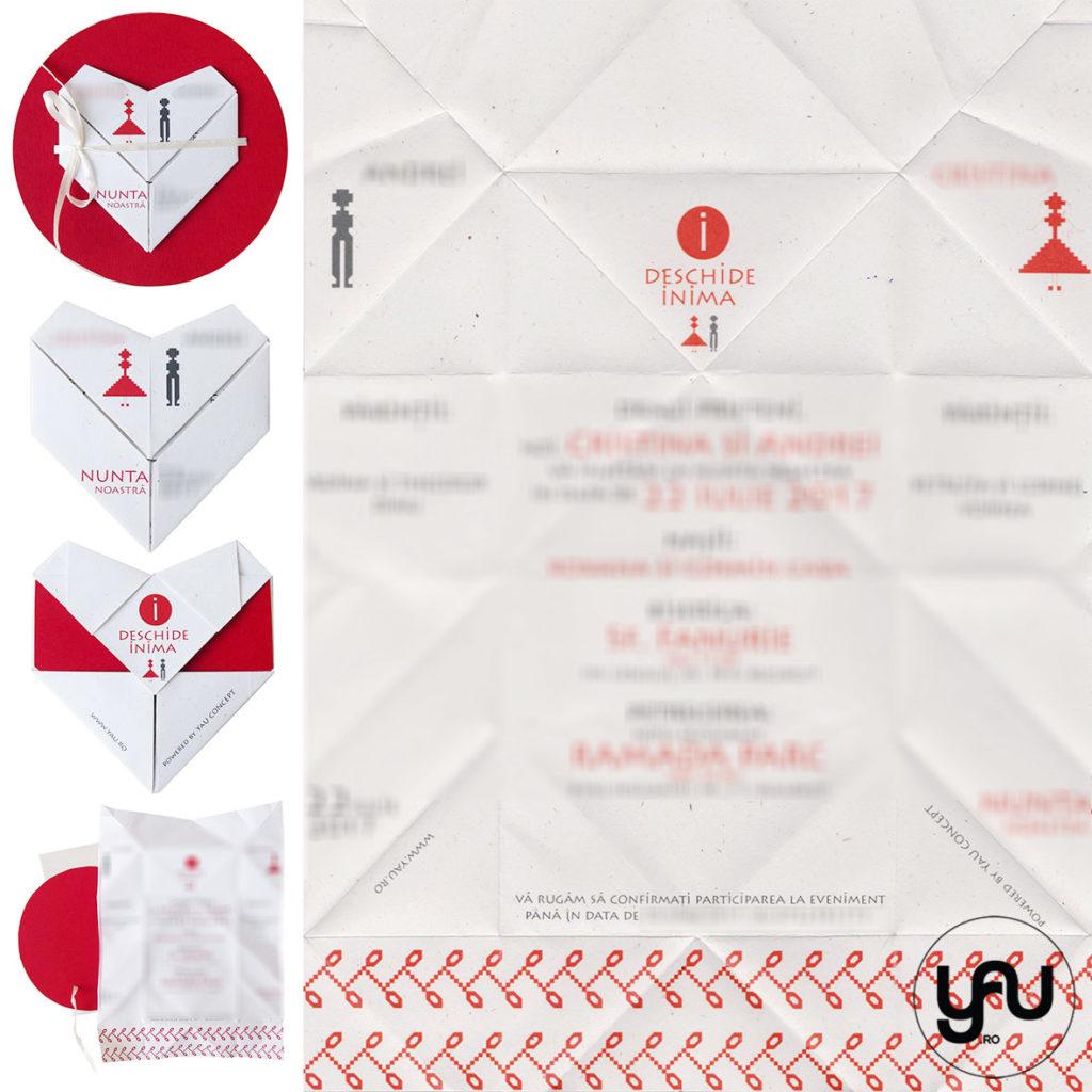 Invitatii nunta INIMA YaU Concept YaU Evenimente Elena TOADER