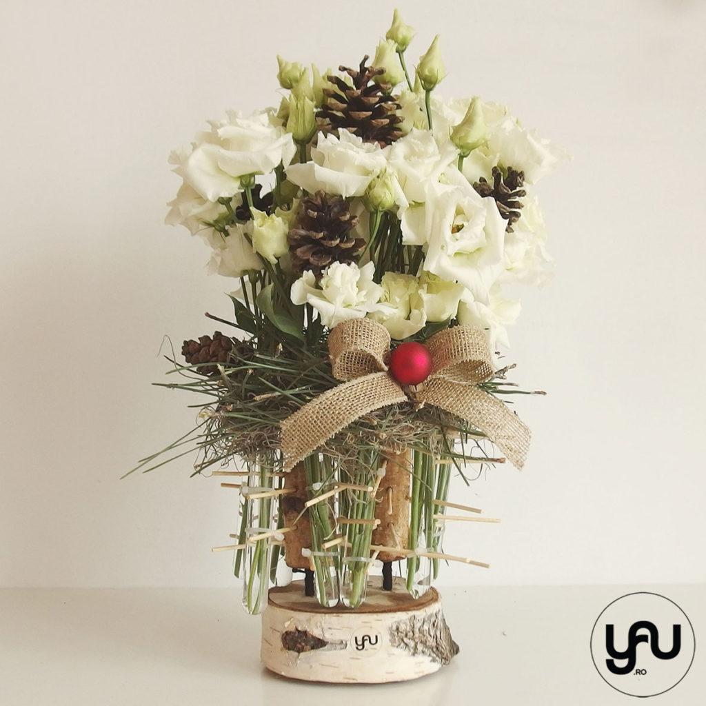 Aranjament de iarna cu flori albe YaUconcept ElenaTOADER