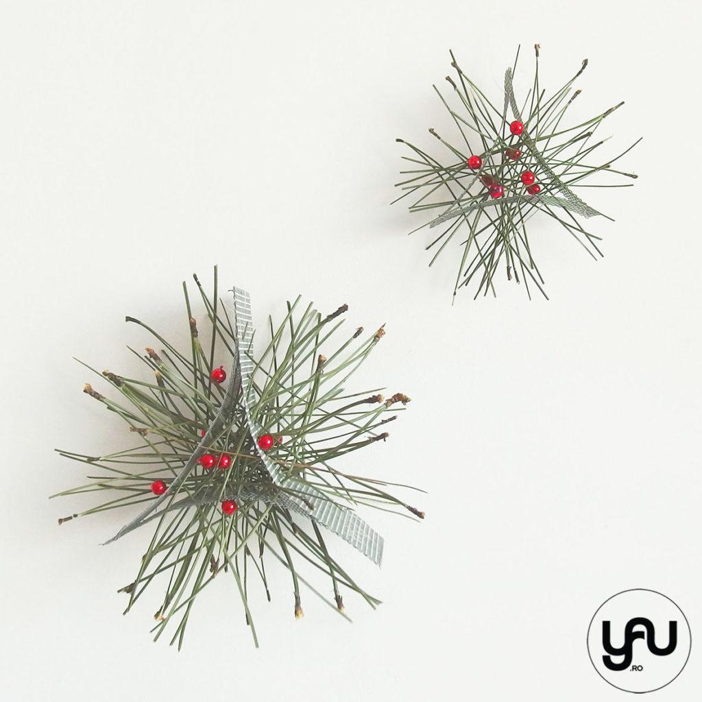 Decoratii CRACIUN Stelute metal si pin YaUconcept Elena TOADER