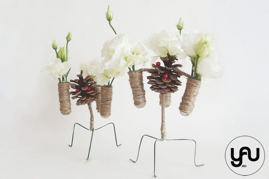 Flori albe pentru spiridusii Craciunului YaU Concept ElenaTOADER