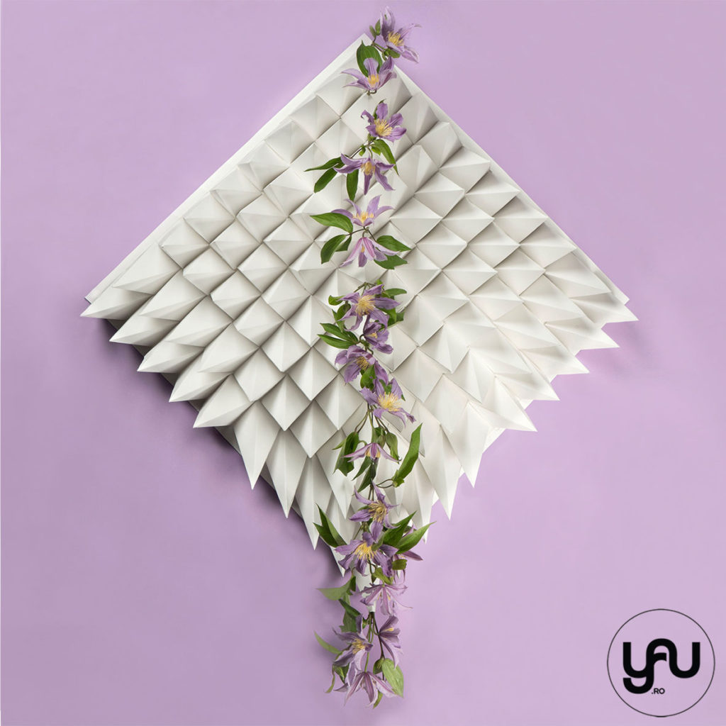 International Floral art 2018-2019 | SURFACE GEOMETRY and FLOWERS | YaUconcept | Elena TOADER