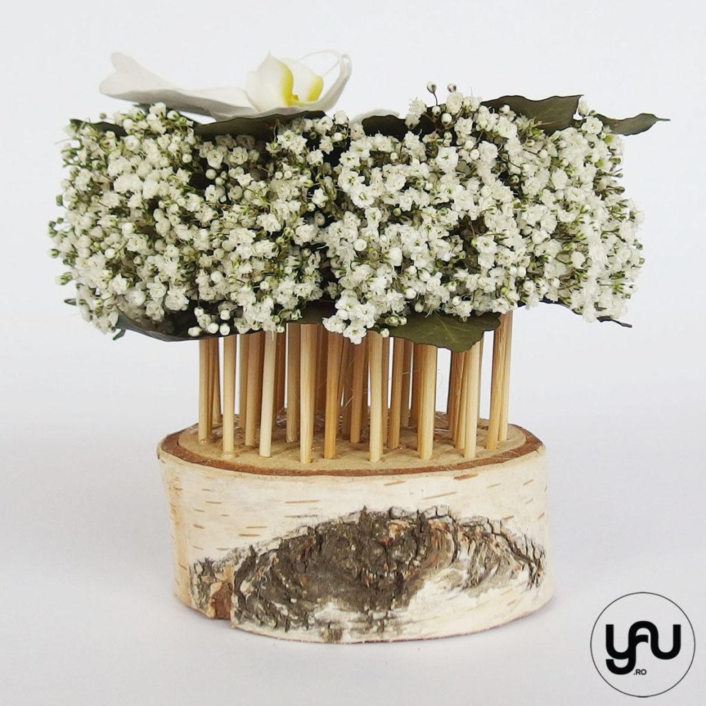 Aranjament floral ORHIDEE si GYPSOPHILA YaU Concept martie 2019 Elena TOADER