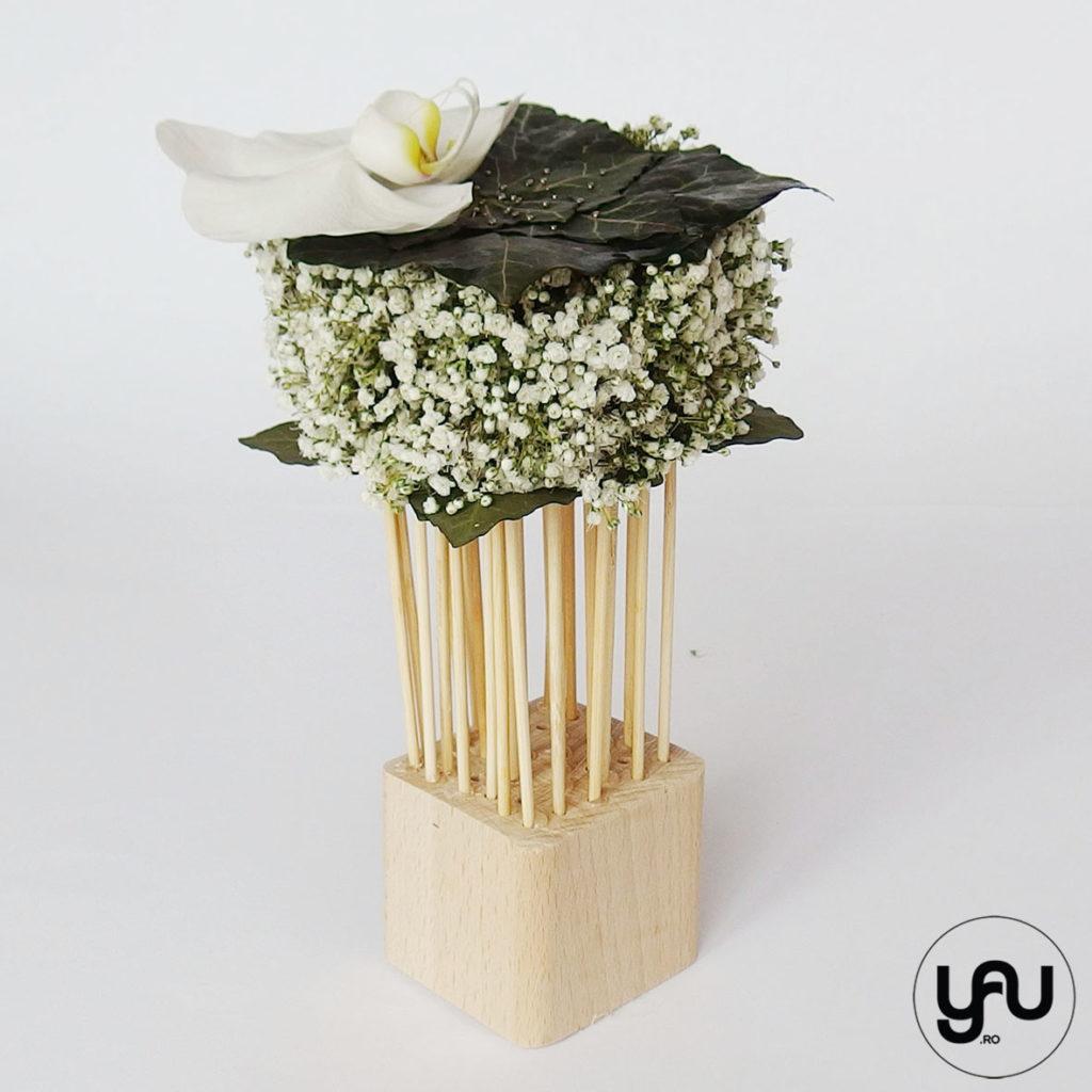Aranjament floral ORHIDEE si GYPSOPHILA YaU sperin 2019 Flori MARTIE Elena TOADER