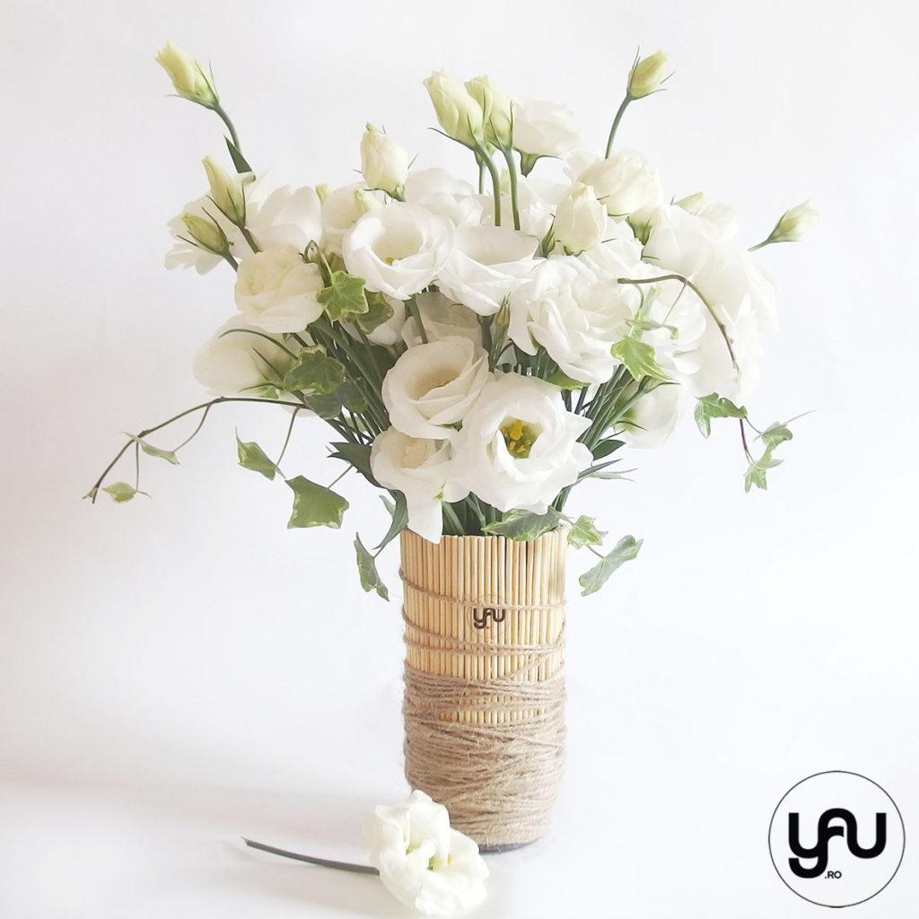 Aranjament flori ALBE yau.ro YaU Concept Elena TOADER