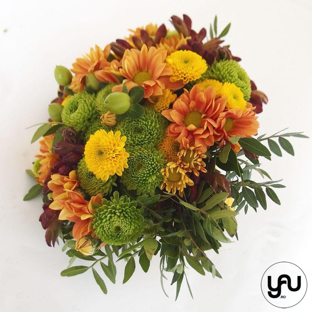 Buchet colorat din crizanteme YaU Concept Elena TOADER