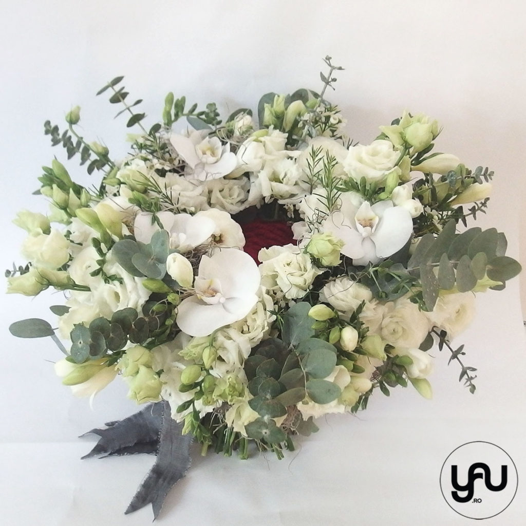 Buchet flori albe yau.ro YaU Concept Elena Toader