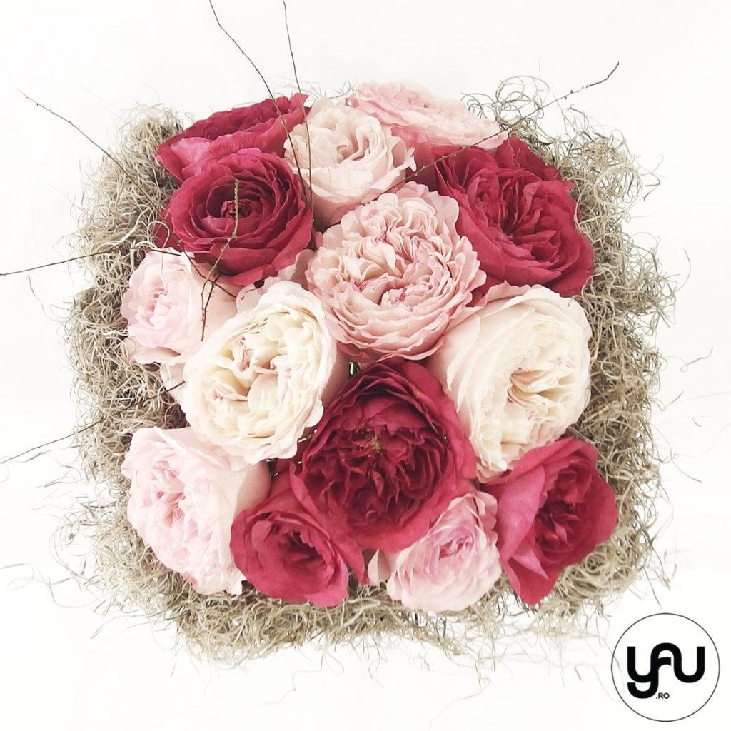 Buchet trandafiri de gradina yau.ro YaU Concept Elena TOADER