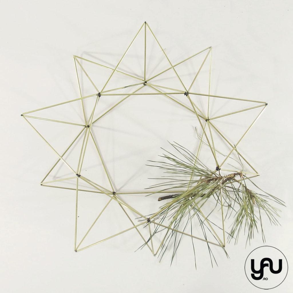 Coronite CRACIUN metal geometrice | YaU CRACIUN 2019 yau.ro yau concept elena Toader