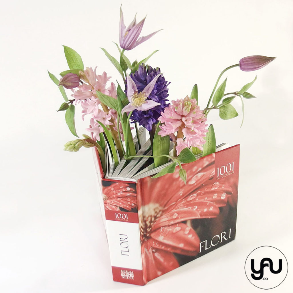 Flori intr-o carte LOVE FLOWERS YaU.ro YaU Concept Elena TOADER