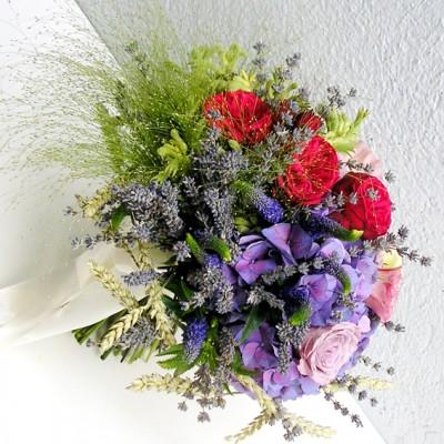 yau flori _ buchet special cu grau si lavanda