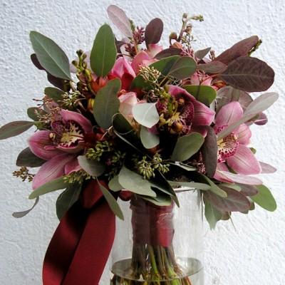 yau flori_buchet specila lila cu trandariri si orhidee
