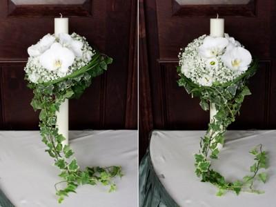 YaU flori+YaU evenimente_lumanare de botez cu orhidee phalaenopsis si floarea miresei (1)