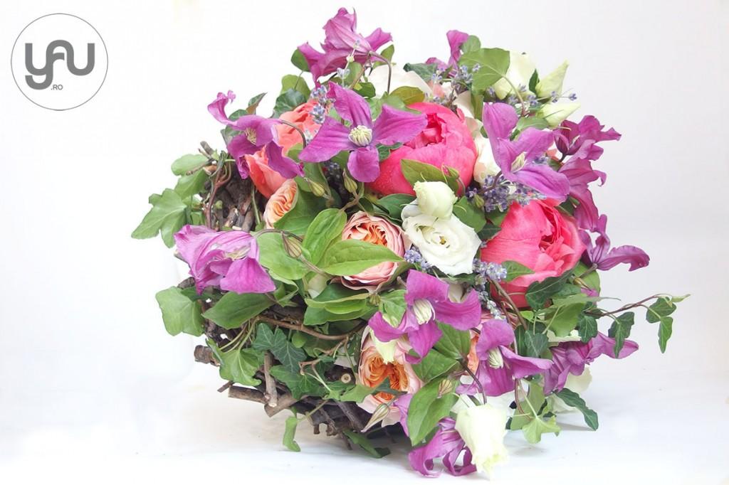 yau concept_yau events_yau flowers_buchet de nunta_wedding bouquet with clematis