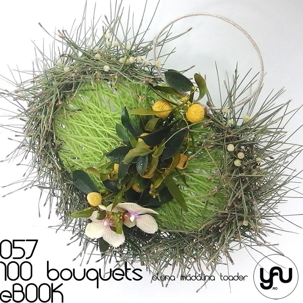 VERDE cu PIN si ORHIDEE #100bouquets #ebook #yauconcept #elenamadalinatoader