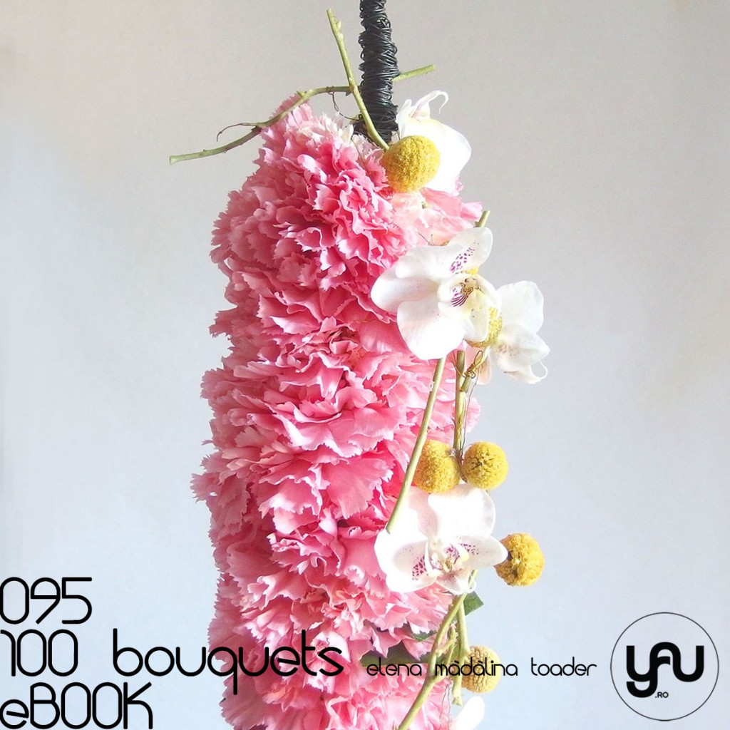 Buchet cu GAROAFE Orhidee si Craspedia #100bouquets #ebook #yauconcept #elenamadalinatoader