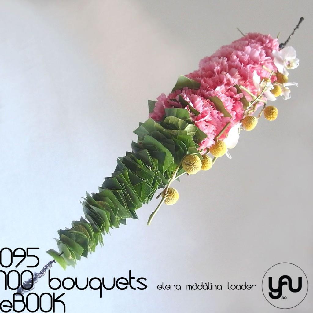 Buchet cu Garoafe, Orhideee si Craspedia #100bouquets #ebook #yauconcept #elenamadalinatoader