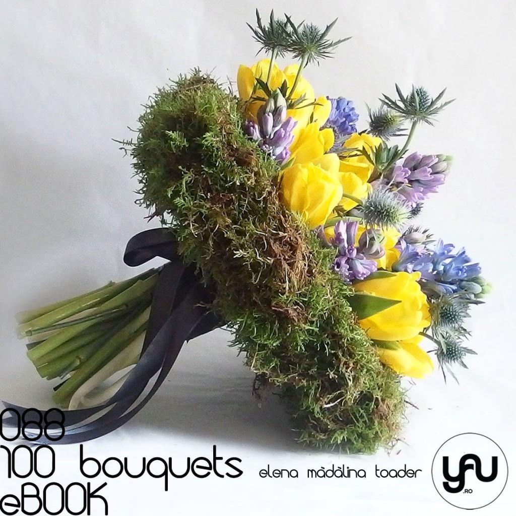 Buchet cu muschi verde lalele si zambile #100bouquets #ebook #yauconcept #elenamadalinatoader