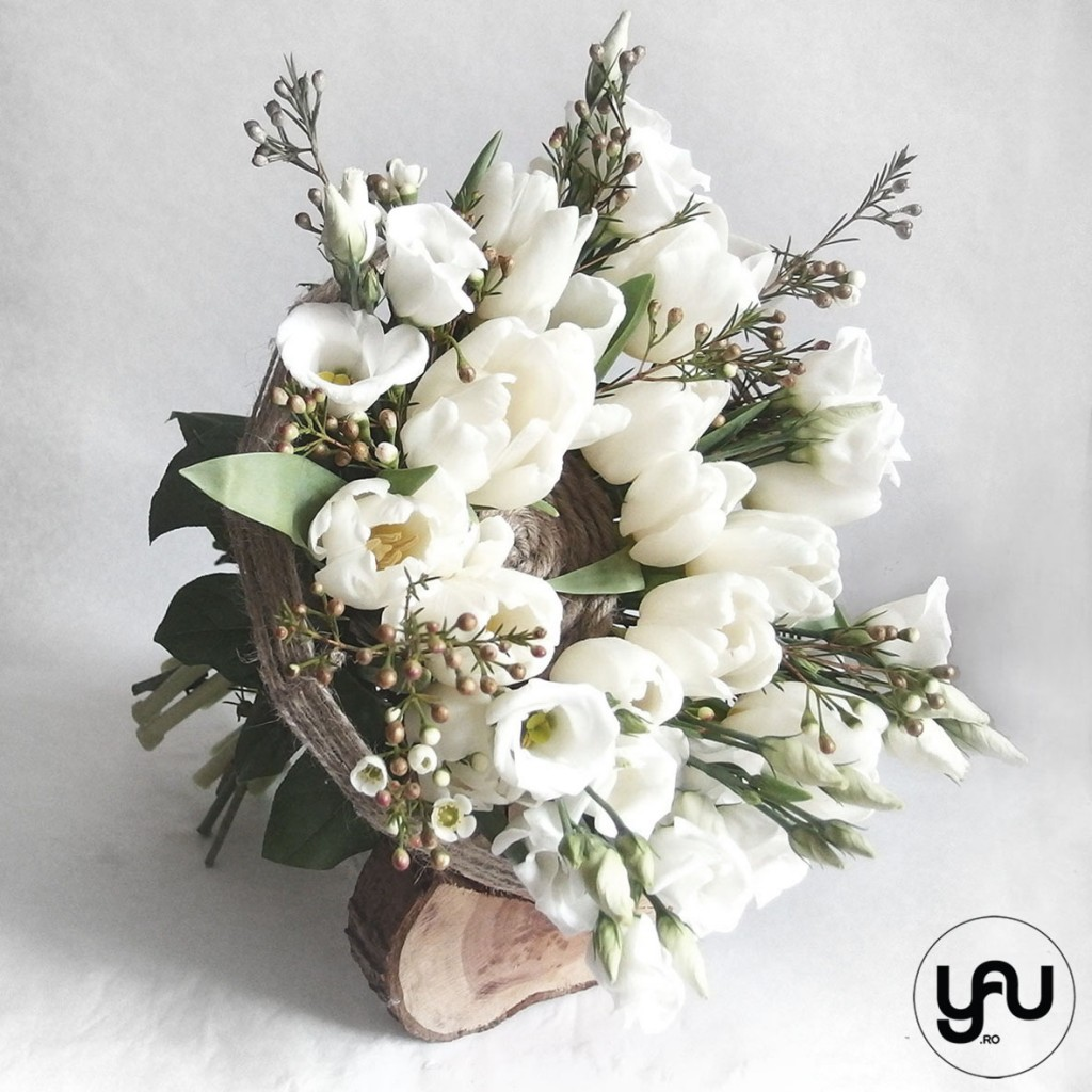 MARTIE yau concept_buchet pentru martie #yau #primavara #martie #lalele #lisianthus #wax (3)