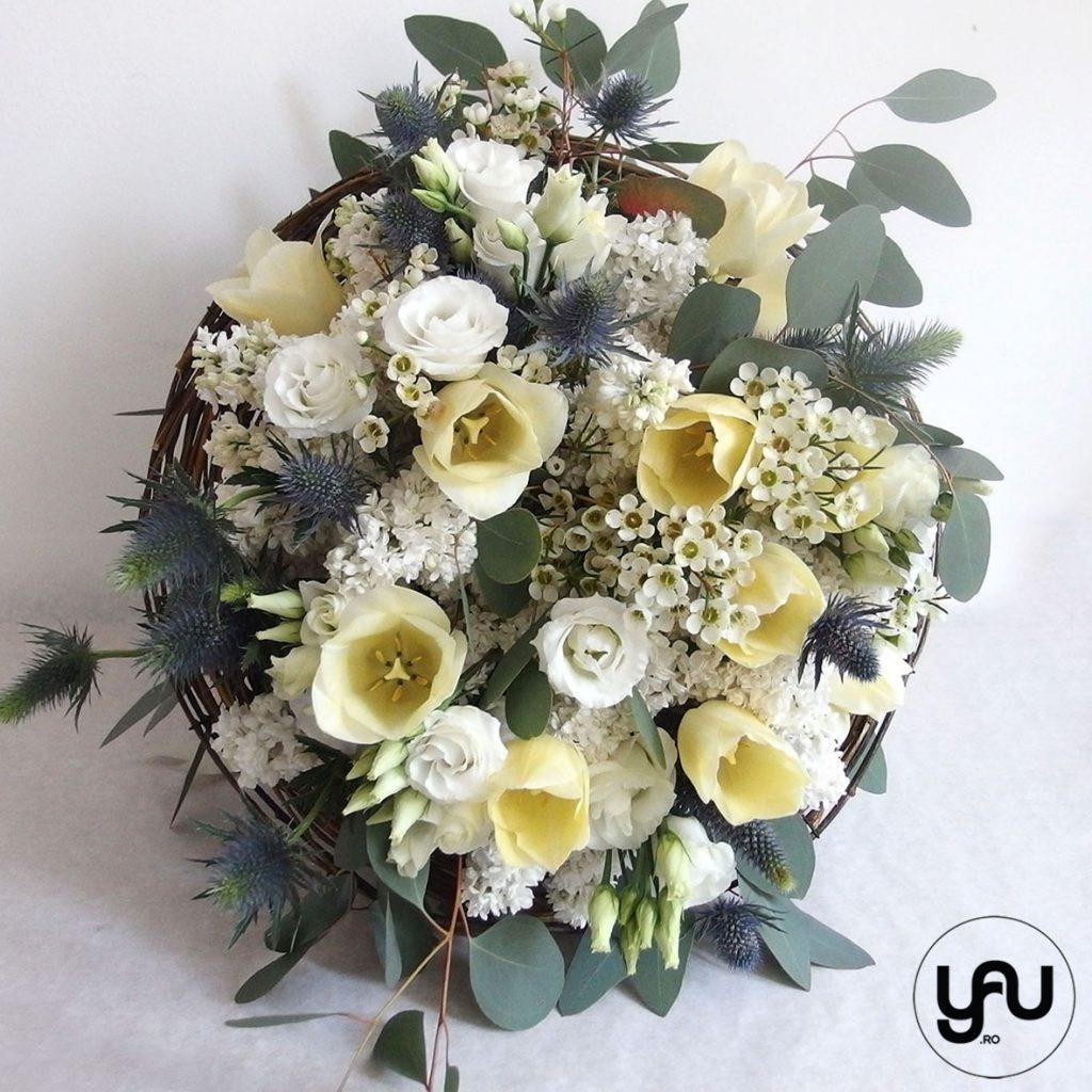 Buchet ALB cu liliac lalele lisianthus eryngium _ yau concept_elena toader (2)