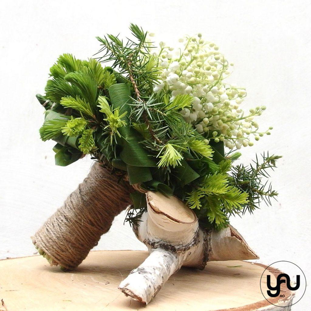 Buchet cu LACRAMIOARE si BRAD _ yau concept _ buchet mireasa _ elena toader _ wedding bouquet (4)