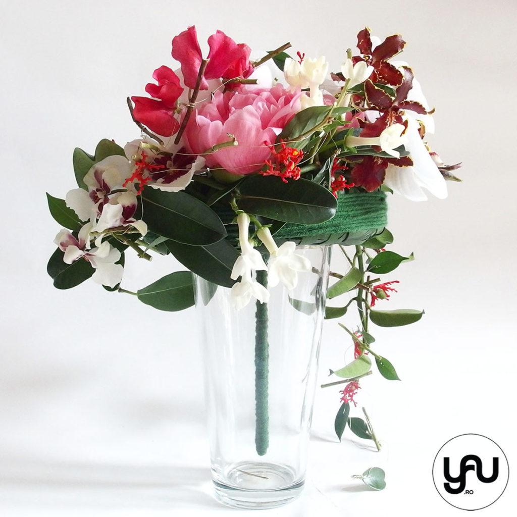 Buchet de mireasa cu orhidee, bujori si lathyrus _ yau concept _ elena toader (3)