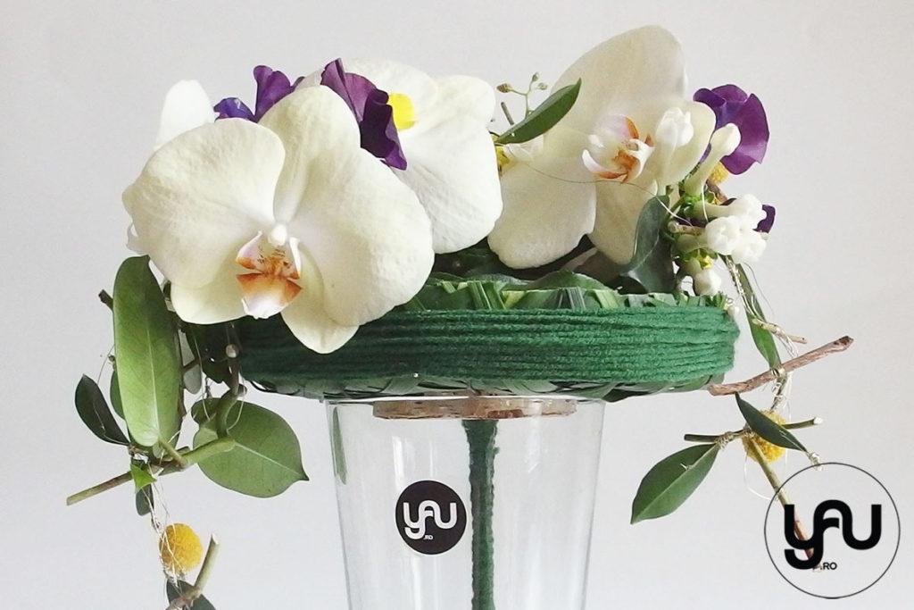 Buchet de mireasa cu orhidee galbena lathyrus si bujori _ yau concept _ elena toader (1)