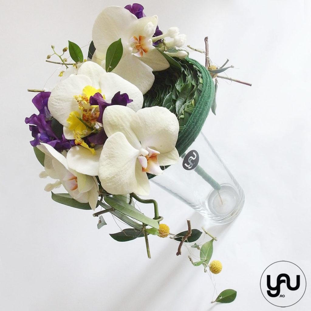 Buchet de mireasa cu orhidee galbena lathyrus si bujori _ yau concept _ elena toader (3)