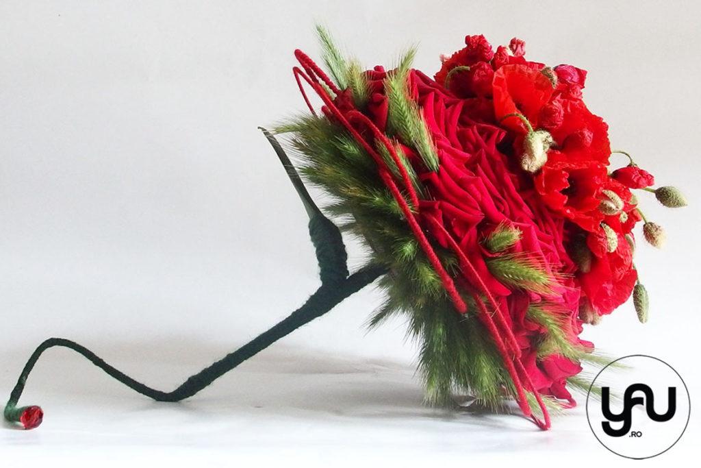 buchet de mireasa cu maci, trandafiri si grau _ yau concept _ elena toader (1)