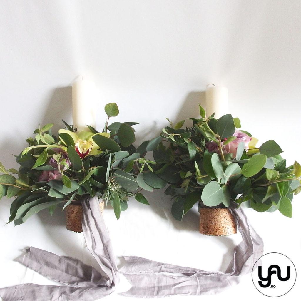 lumanari-cununie-SCURTE-frunze-verzi-orhidee-trandafiri-_-yauconcept-_-elenatoader-2