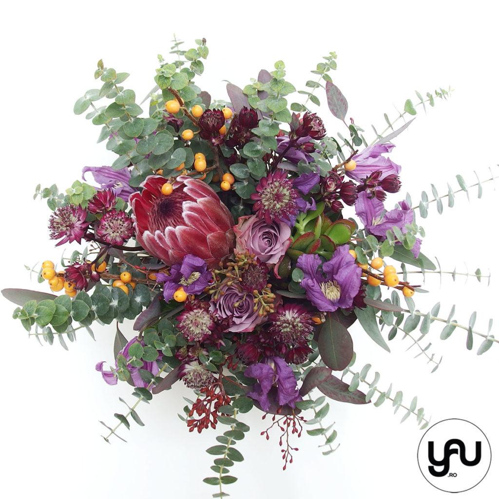 Aranjament floral cu flori MOV VIOLET _ YaU Concept _ elenatoader (2)