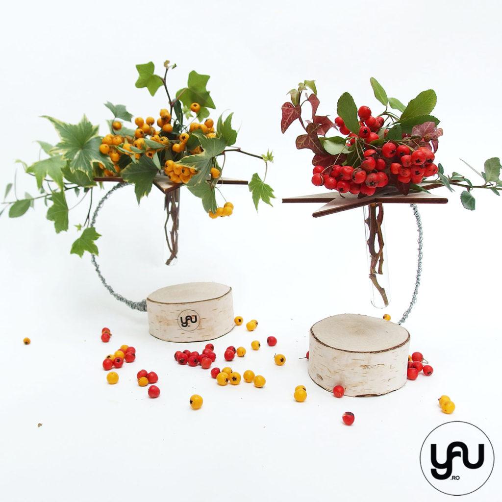 bobite colorate intr-un aranjament floral cu lemn _ yauconcept _ elenatoader (2)