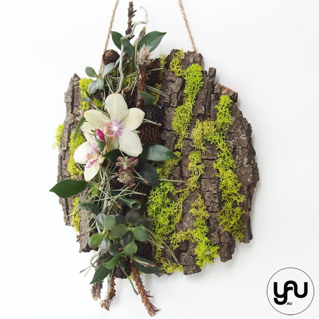 decor floral IARNA _ tablou verde cu orhidee _ yauconcept _ elenatoader (3)